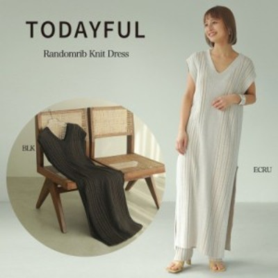 TODAYFUL 21夏予約 トゥデイフル ワンピース (5月中旬-6月中旬入荷予約)Randomrib Knit Dress ランダムリブニットドレス 12110320 吉田怜