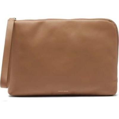 マンサーガブリエル Mansur Gavriel レディース クラッチバッグ 枕 バッグ Pillow Pouch Leather Clutch Beige