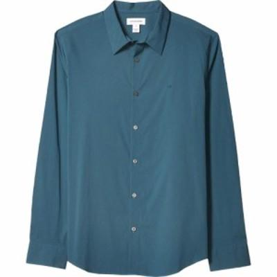 カルバンクライン Calvin Klein メンズ シャツ トップス The Stretch Cotton Shirt Stargazer