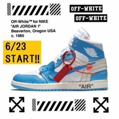 【レアモデル】 Off-White × NIKE エア ジョーダン ナイキ スニーカー Nike Air Jordan 1 POWDER BLUE  【海