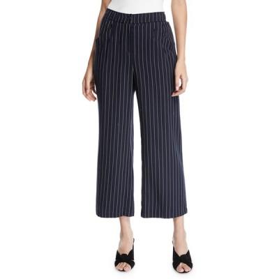エイリーンフィッシャー レディース カジュアルパンツ ボトムス Plus Size Tencel® Cropped Wide-Leg Striped Pants