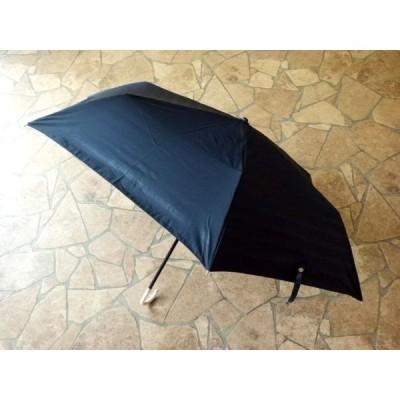 PUボーダー 折りたたみ日傘(ネイビー)