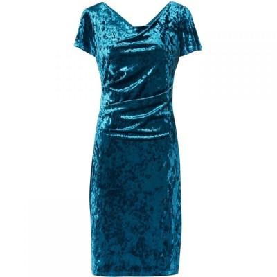 ジーナ バッコーニ Gina Bacconi レディース ワンピース ワンピース・ドレス Sigrid Crushed Velvet Dress Teal