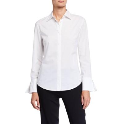 ナトリ レディース シャツ トップス Cotton Poplin Button-Down Shirt