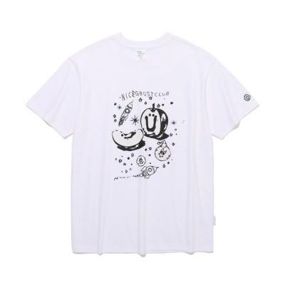 tシャツ Tシャツ 【ISTKUNST / nice ghost club】UV APPLE SPACE TEE / ナイスゴーストクラブ UV アッ