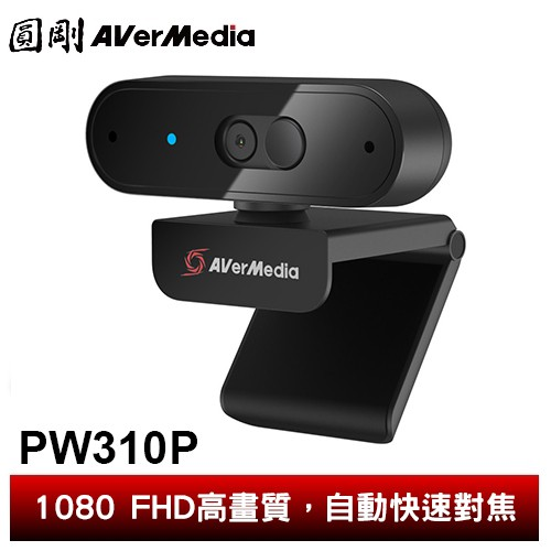 圓剛 PW310P 1080p高畫質自動變焦網路攝影機 視訊鏡頭/遠端教學/居家辦公/USB隨插即用【圓剛】