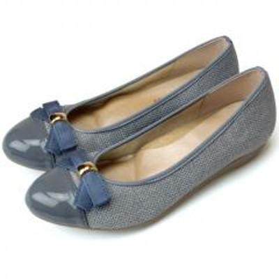 ARCH CONTACT(アーチコンタクト)ARCH CONTACT アーチコンタクト 日本製 リボン バレエ パンプス  3.0cmヒール  痛くない ウェッジソール ローヒール 39188 レディース 靴