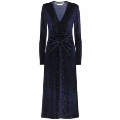 ローテート ROTATE BIRGER CHRISTENSEN レディース ワンピース ミドル丈 ワンピース・ドレス Stretch-velvet midi dress Twilight Blue
