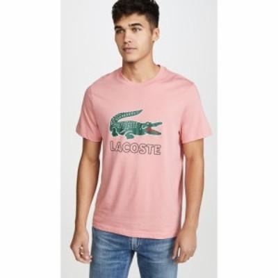 ラコステ Lacoste メンズ Tシャツ トップス Graphic Tee Shirt Princess Pink
