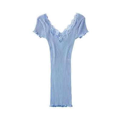 [ピーチ・ジョン] 【汗取りパッド付き】リリアンリブキャップスリーブ 半袖 1021021 レディース    M-L