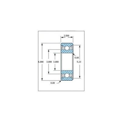 ミネベア ボール・ベアリング DDL-630ZZ ステンレス 3x6x2.5mm