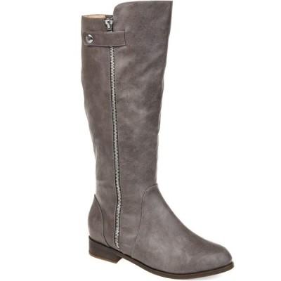 ジャーニーコレクション ブーツ&レインブーツ シューズ レディース Women's Comfort Extra Wide Calf Kasim Boot Grey