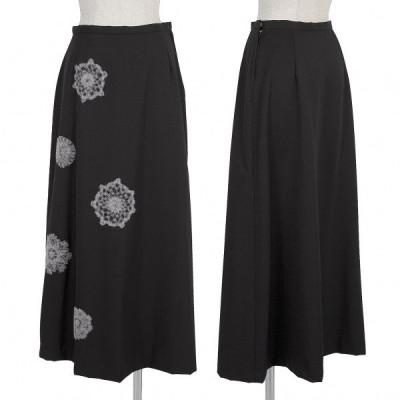 ホンマHOMMA ウールギャバニードルパンチスカート 黒2S 【レディース】