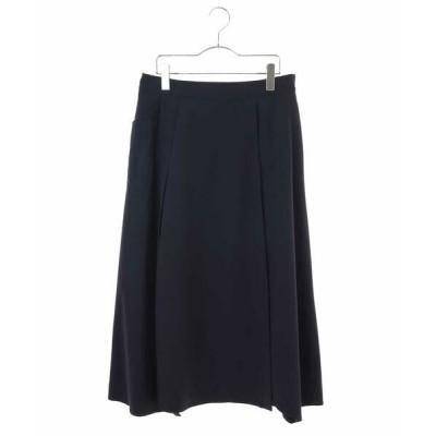 HIROKO BIS GRANDE/ヒロコビス グランデ 【洗濯機で洗える】ストレッチタフタスカート ネイビー 4L