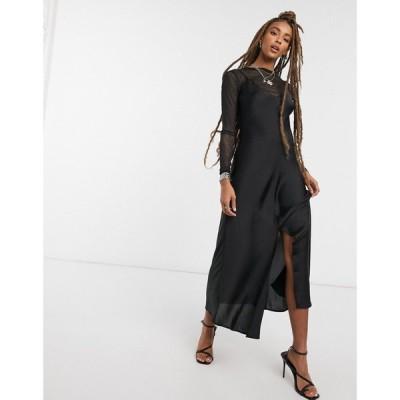 フリーピープル Free People レディース ワンピース スリップドレス マキシ丈 ワンピース・ドレス Smoke And Mirrors maxi slip dress in black ブラック