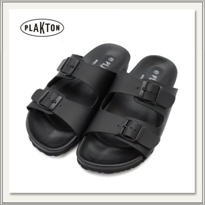 PLAKTON(プラクトン) 260010 バックル付きパラレルストラップサンダル[フラット][NEGRO黒ブラック][メンズ/レディース]