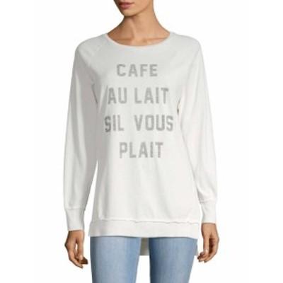 ソルアンジェルス レディース トップス ニット  Longline Graphic Sweatshirt
