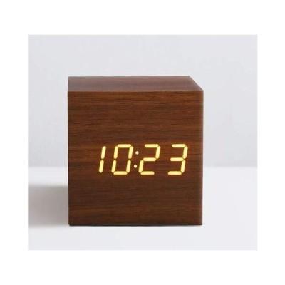 ?置時計 おしゃれ 北欧 デジタル 可愛い 小さい かわいい 静か リビング ミニ 木製 置き時計 LED インテリア か?