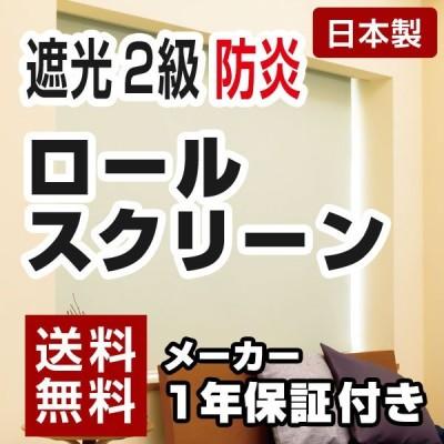 日本製 ロールスクリーン オーダー 1cm単位 遮光2級 防炎タイプ 幅25~40cm 高さ30~90cm タチカワブラインドグループ 代引不可