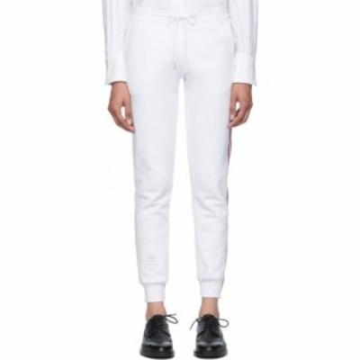 トム ブラウン Thom Browne レディース ボトムス・パンツ White Classic Loopback Lounge Pants White