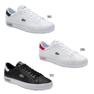 ラコステ メンズ パワーコート POWER COURT 0520 1 スニーカー シューズ 紐靴 レザー ローカット SM00600