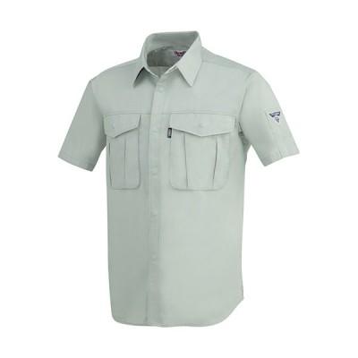 ジーベック(XEBEC) プリーツロンミニ半袖シャツ 大きいサイズ 61/モスグリーン 3Lサイズ 1292 作業服 作業着 ワークウエア ワークウェア メンズ