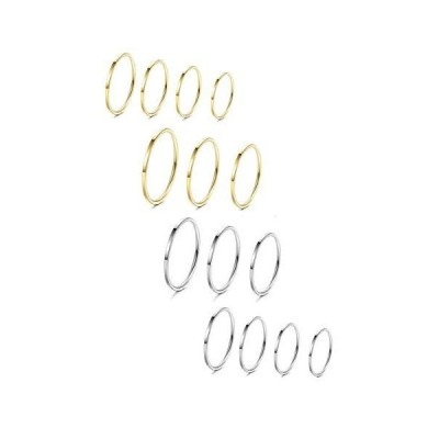 LOYALLOOK 8-14Pcs 1mm Stainless Steel Women's Plain Band Knuckle Stacking M