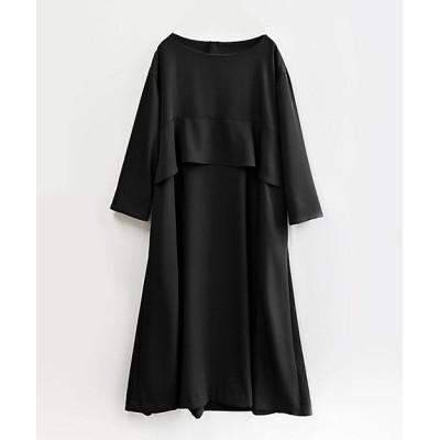 <BASCO(Women/大きいサイズ)/バスコ> ジゼルドレス バスト下フリルのすっきりAラインドレス 黒(05)【三越伊勢丹/公式】