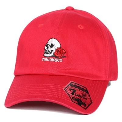 セブンユニオン キャップ 帽子 7UNION Skull & Rose Bent Brim Cap IPVW-147 レッド