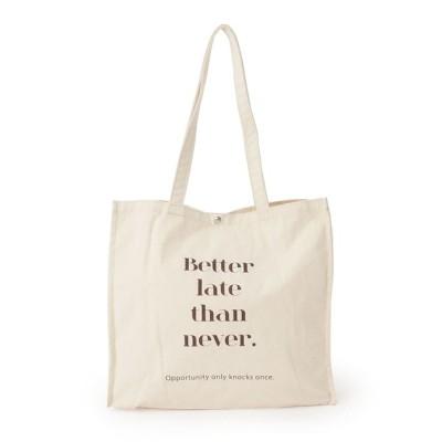SHOO・LA・RUE / ロゴデザインボックスビッグトート WOMEN バッグ > トートバッグ