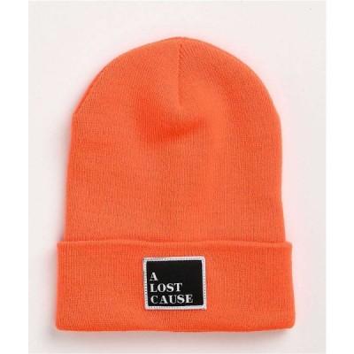 アロストコーズ A LOST CAUSE レディース ニット ビーニー 帽子 A Lost Cause Squared Tall Orange Beanie Orange