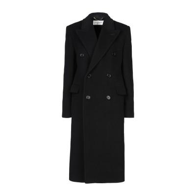 SAINT LAURENT コート ブラック 38 ウール 100% コート