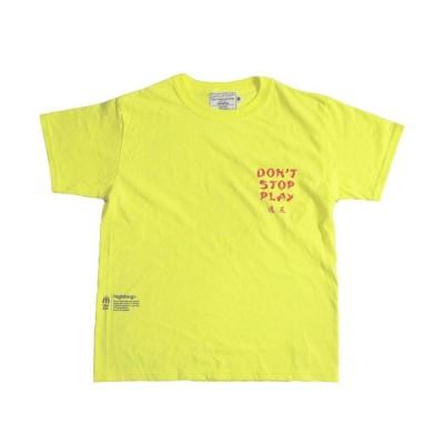highking ハイキング S/M project 半袖Tシャツ ライムcm メール便OK  2021春夏 メンズサイズ