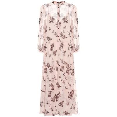 バウム ウンド ヘルガーデン Baum und Pferdgarten レディース ワンピース ミドル丈 ワンピース・ドレス aia floral midi dress Peach Brown Rose