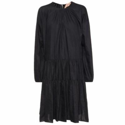 ヌメロ ヴェントゥーノ N21 レディース ワンピース ワンピース・ドレス Cotton-blend dress Nero