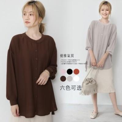 送料無料 レディース シャツ トップス ブラウス ブラウスそ 夏 長袖 ゆったり カジュアル シンプル ワイシャツ ファッション 上品 母 長