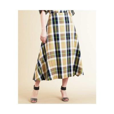 CHRISTIAN AUJARD / 【洗える・日本製】ツイルチェックニュアンススカート