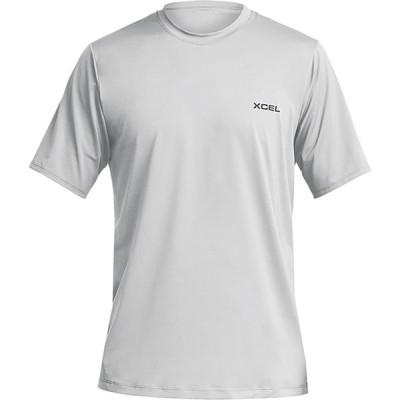 エクセル XCEL メンズ 半袖シャツ トップス premium stretch short sleeve relaxed fit top Ice Grey