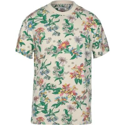 トミー ジーンズ TOMMY JEANS メンズ Tシャツ トップス t-shirt Beige