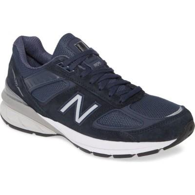 ニューバランス NEW BALANCE メンズ ランニング・ウォーキング シューズ・靴 990v5 Made in US Running Shoe Navy/Silver Suede