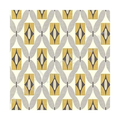 新品 Retro Wallpaper Vintage 3d Geometric Diamond Yellow Grey Off White Arthouse並行輸入品