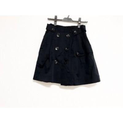 アプワイザーリッシェ Apuweiser-riche スカート サイズ2 M レディース 美品 ネイビー【中古】