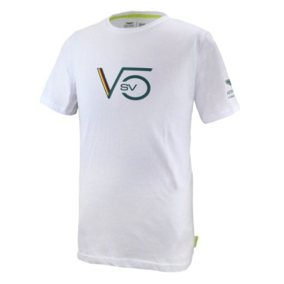 2021 アストンマーチン F1 チーム オフィシャル セバスチャン・ベッテル Tシャツ ホワイト 白 SV5 Aston Martin