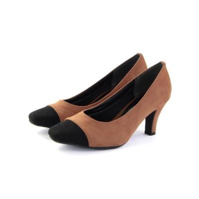 SOROTTO / 【masyugirl(マシュガール)】【5E/幅広ゆったり・大きいサイズの靴 バイカラースクエアトゥパンプス】 WOMEN シューズ > パンプス