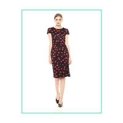 Betsey Johnson Women's Scuba Midi Dress, Cherry Print, 8並行輸入品