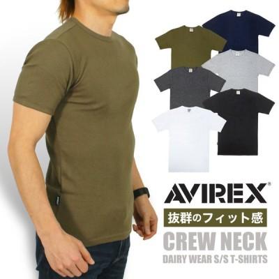 期間限定ポイント最大5倍★AVIREX アビレックス デイリー クルーネック 半袖Tシャツ タイトフィット インナー アヴィレックス 6143502 送料無料 ポイント10倍
