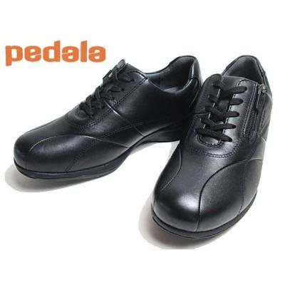 アシックス ペダラ asics PEDALA WS090C ファスナー付き ウォーキングシューズ ワイズ:3E カラー:BLACK レディース 靴