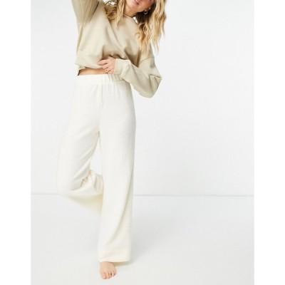 ピーシーズ Pieces レディース ボトムス・パンツ Lounge Wide Leg Trousers Co-Ord In Cream クリーム