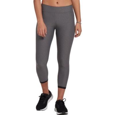 アンダーアーマー カジュアルパンツ ボトムス レディース Under Armour Women's HeatGear Armour Ankle Crop Leggings CharcoalHeather/Black