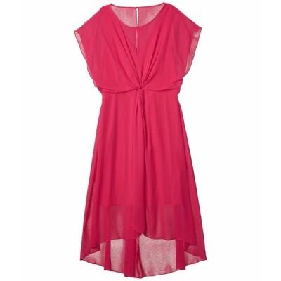アドリアナ パペル ワンピース トップス レディース Chiffon Overlay Twist Dress Bright Azalea